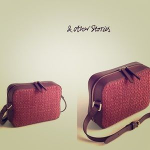 EUC & Other Stories Woven Leather & Suede Bag